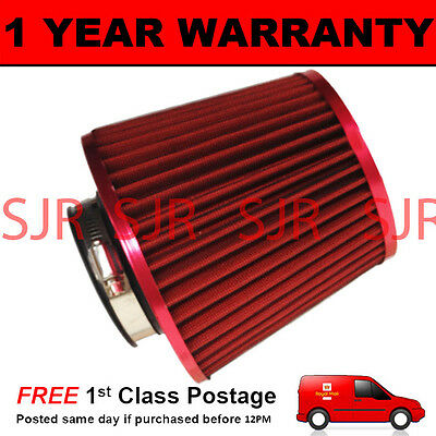 Red Universal High Power Upgrade Air Filter With Adaptors 60 65 70 76