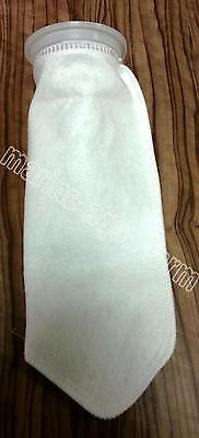"AQUARIUM 4"" x 14"" LONG FELT FILTER SOCK IN 100 & 200 MICRONS, SUMP NYLON MARINE"