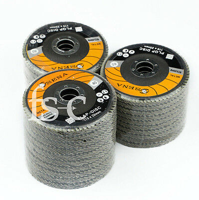 15pcs Flap Discs 115mm Sanding 40 60 80 Grit Grinding Wheels Discs 4.5""