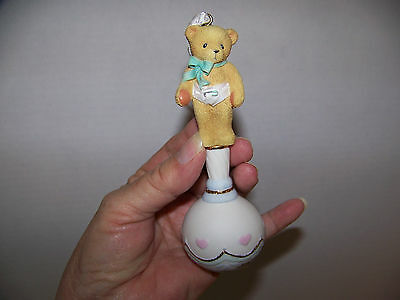 1999 NOS Cherished Teddies Baby Rattle Hanging Ornament  Enesco #533343 Orig.Bx