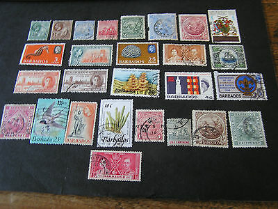 Barbados, Assorted #2, 27 Different Stamps Package Fine Used