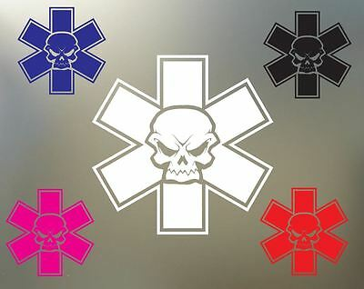 "(2) 5.5"" EMS EMT ambulance fire medic paramedic ARMY vinyl Decal sticker S905"