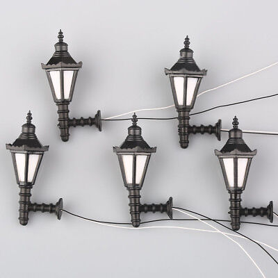 5pcs Model Railway Led Lamppost Lamps Wall Lights G Scale 3V  FREE SHIPPING