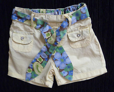 Baby clothes GIRL 6-9m Early Days cotton shorts pockets floral tie belt SEE SHOP