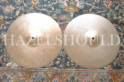 "RARE VINTAGE 1960s LARGE STAMP Zildjian 14"" New Beats! 948 & 1244 Gs! EXCD!"
