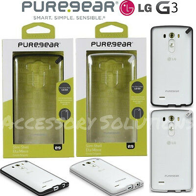 Puregear LG G3 Slim Shell Impact Flexible Silicone Protector Case Cover Clear