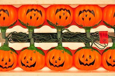 1991 Halloween Box Set Pumpkin Lights String Of 10