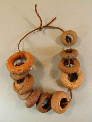 Set Of 10 Ceramic Spindle Whorls 300-600Ad # X4913 • CAD $113.40