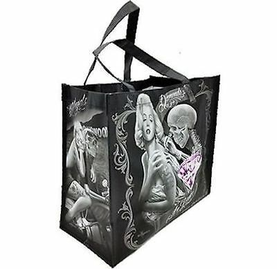 DGA Day of the Dead Canvas Art Shopping Tote Bag Reusable Marilyn Monroe Diamond