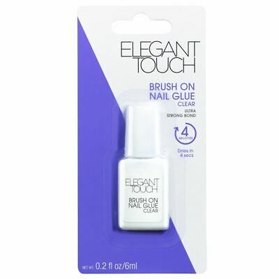 Elegant Touch Brush On Nail Glue False Nails Strong Bond 6ml