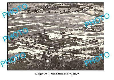OLD LARGE PHOTO, LITHGOW, NEW SOUTH WALES, SMALL ARMS FACTORY c1920