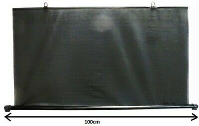 Universal Type Rear Windshield Sun Shade 90 CM BLACK Window Blind Curtain