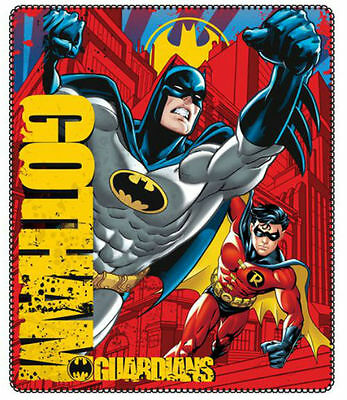Batman Fleece Blanket 2015 Gotham Guardians Red 120 X 140Cm