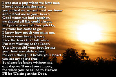 Dog Pet Loss Bereavement Memorial Sympathy poem verse gift Rainbow Bridge