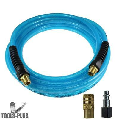 "1/4"" x 100' Flexeel Air Hose, Polyurethane 3 Pc Kit Coilhose PFE41004T New"