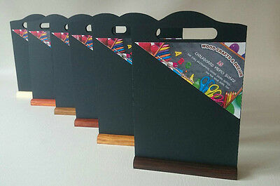 Table Shaped Top Menu A5 Bar Menu Chalkboard With A Stand In Different Colours