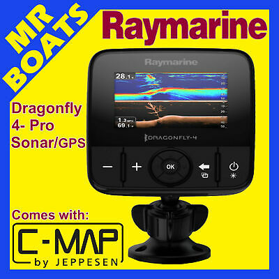 RAYMARINE DRAGONFLY 4 Pro ✱ C Map CARD ✱ Fishfinder Chartplotter Combo FREE POST
