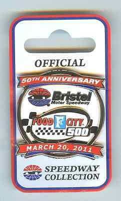 2011 Bristel Speedway Collector Pin - 50th Anniversary - Food City 500