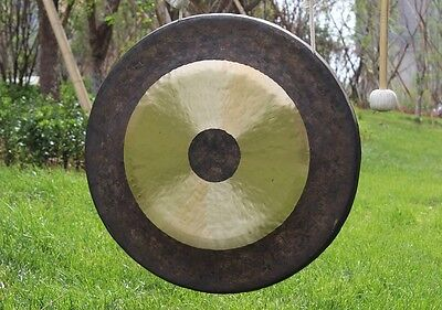 32'' Chau Gong with Mallet Chinese Traditional Gong Tam Tam Gong, No Gong Stand