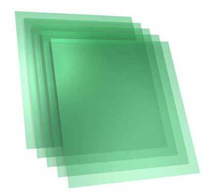 """2 mil PET film 4 pieces for 3D Printers 8"""" x 9"""" for 200mm x 214mm glass"""