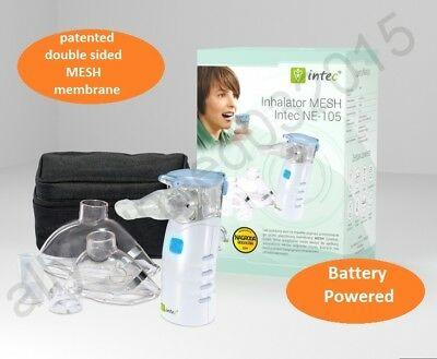 The Mesh Nebuliser NE-105 Compressor Inhaler Home or Travel Use Adults Children