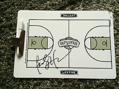 San Antonio Spurs BECKY HAMMON SIGNED autographed basketball clipboard COA