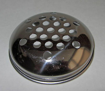 Set -3 American Metalcraft 3319T Stainless Steel Cover Top Lid fits 12-Oz Shaker