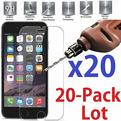 20x Wholesale Lot Tempered Glass Screen Protector for  iPhone 6 Plus / 6S Plus