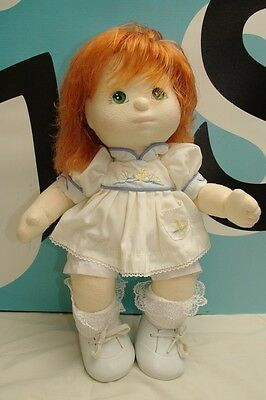 Mattel My Child Strawberry Blonde Red Green Eyes Baby Doll W/Outfit