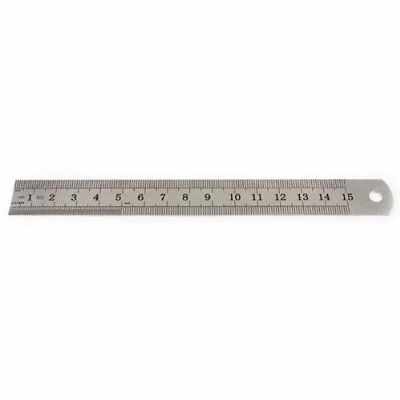 Stainless Steel Measuring Ruler Rule Scale Machinist Tools 15cm WS