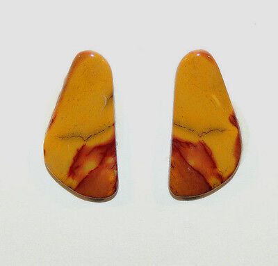 Mookaite Jasper Cabochons 20x10mm set of 2 with 2.5mm dome (9161)