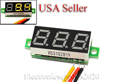 "Mini DC 0-100V RED LED 3-Digital Display Voltage Voltmeter 0.28"" Volt Meter"
