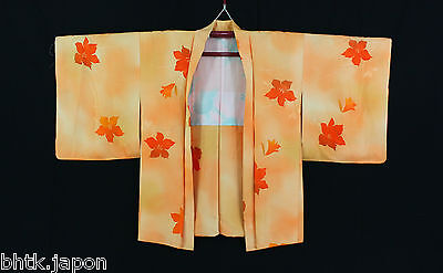 羽織 Haori japonais - Orange/Ibiscus - Veste - Import direct du Japon !