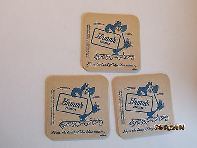 Vintage Hamm's coaster  lot of 3 new old stock