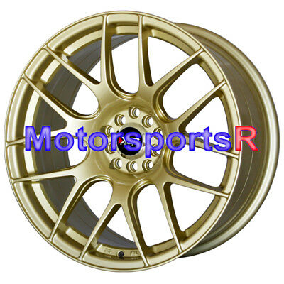 XXR 530 Gold Wheels Rims Concave 17 x 8.25 5x114.3 06 15 17 18 Honda Civic SI EX