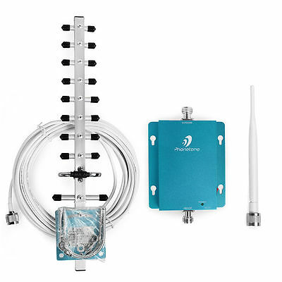 Phonetone 2100MHz 70dbi 3G/LTE Mobile Signal Repeater Booster+2Antenna AU STock