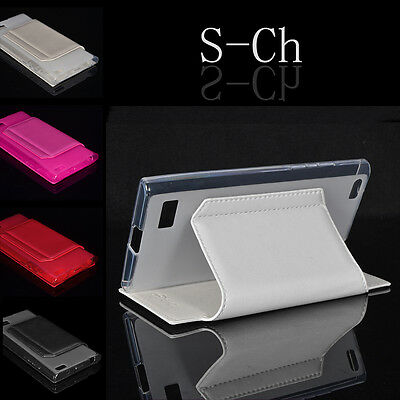 New Card Slot Wallet Flip Stand Phone Case Cover Skin Case For Blackberry Leap