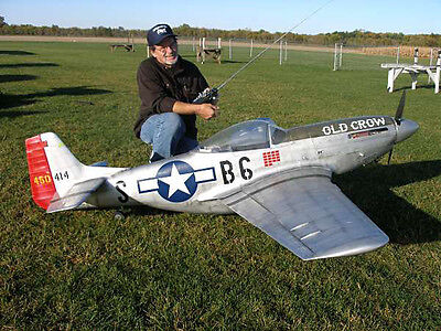 """1/4 Scale P51 Mustang  101""""  Giant Scale RC AIrplane Printed Plans & Templates"""