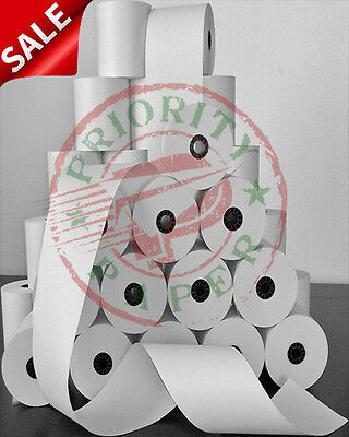 "3-1/8"" x 220' THERMAL PoS RECEIPT PAPER - 100 NEW ROLLS  ** FREE SHIPPING **"