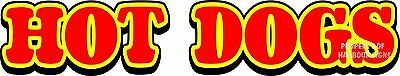 """Hot Dogs Decal 24"""" Hot Dogs Letters Concession Restaurant Food Truck Sticker"""