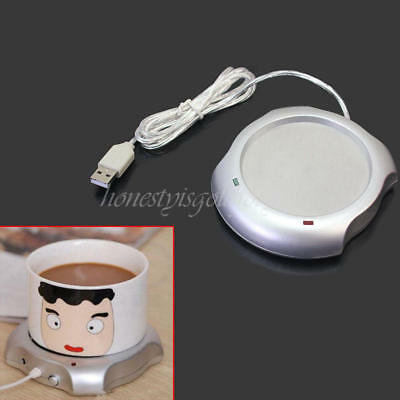 USB Powered Desktop Tea Coffee Cup Mug Warmer Heater heating Pad For Home Office