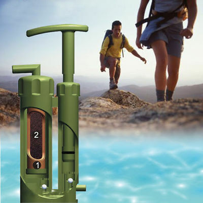 Portable Water Straw Filter Purifier Survival for Outdoor Camping Hiking Ceramic