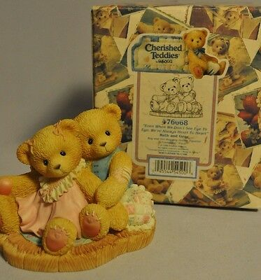 Cherished Teddies - Ruth and Gene - 476668 - Even When We Don't See Eye to Eye