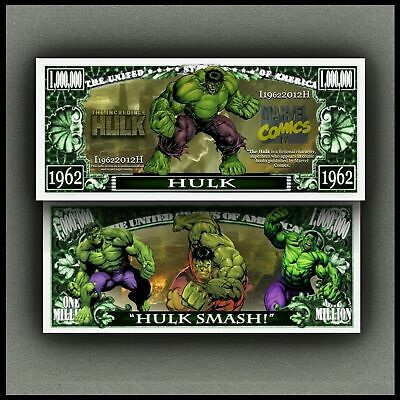 Incredible Hulk Million Dollar Novelty Bill