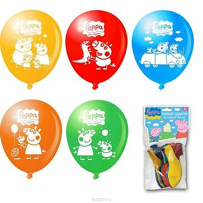 Set of air balloons Peppa Pig, with picture, birthday party VAFOR, holiday 10pcs