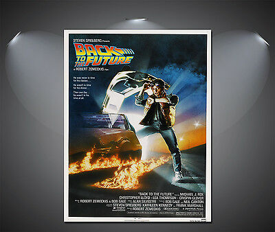 Back to the Future 1 Vintage Movie Poster - A1, A2, A3, A4 Sizes