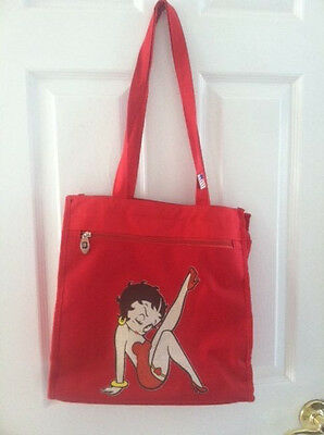 Betty Boop Canvas Red Bag 13 X 13 With Logo