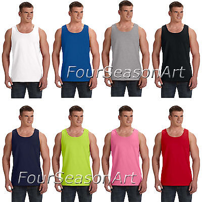 Fruit of the Loom Mens Heavy Cotton HD 100% Tank Top T shirt S-3XL 39TKR