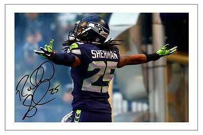 Richard Sherman Seattle Seahawks Signed Photo Autograph Print Nfl Football