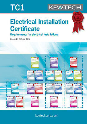 Kewtech TC1 Electrical Installation Certificate for upto 100A Supply Amendment 3